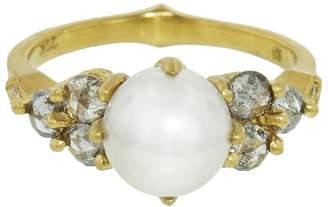 Cathy Waterman Akoya Pearl and Diamond Constellation Ring