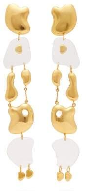 Misho - Wave Breaker Gold Plated Drop Earrings - Womens - Gold