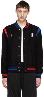 Marcelo Burlon County of Milan Black Wool 'NBA' Bomber Jacket