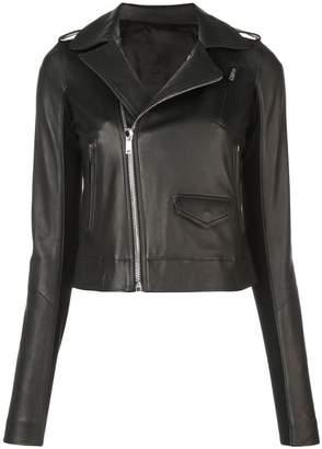 Rick Owens off-centre zipped biker jacket