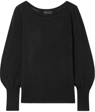 Hatch The Olympia Ribbed Merino Wool Sweater - Black