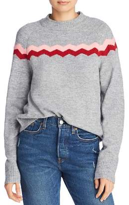 CLYDE John and Jenn Waved Stripe Sweater