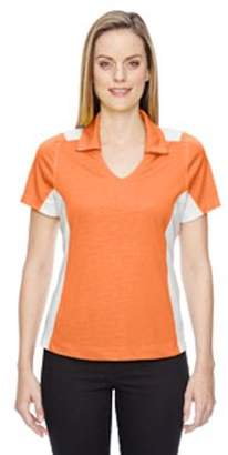 Ash City - North End Sport Red Ladies' Reflex UTK cool?logik Performance Embossed Print Polo - ORANGE SODA 476 - XS 78691