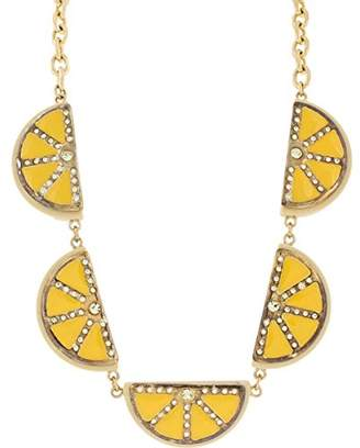 Marc by Marc Jacobs Womens Rhinestone Fruits Slice Collar Necklace Yellow