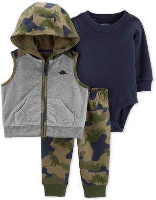 Carter's Carter Baby Boys 3-Pc. Camouflage Vest, Bodysuit & Leggings Set