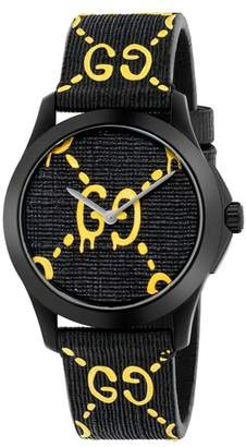 Gucci GG Rubber Strap Watch, 38mm