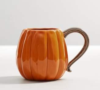 Pottery Barn Pumpkin Figural Mug