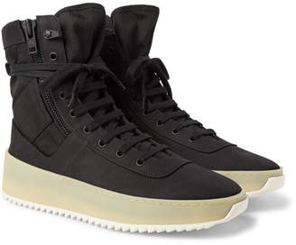Fear Of God Jungle Nubuck And Canvas High-Top Sneakers