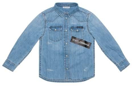 Dolce and Gabbana Kids Dolce And Gabbana Kids Cotton Denim Shirt