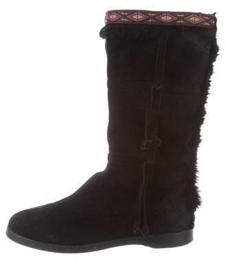 Jimmy Choo Fur-Lined Mid-Calf Boots
