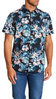 Straight Faded Hawaii Short Sleeve Modern Fit Shirt