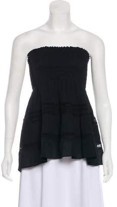 A.L.C. Strapless Pleated Top