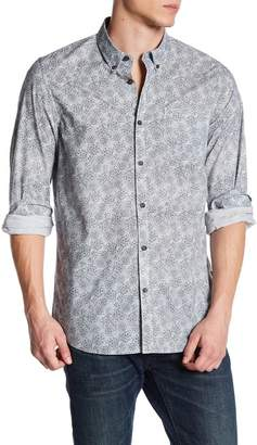 Indigo Star Front Button Print Woven Tailored Fit Shirt