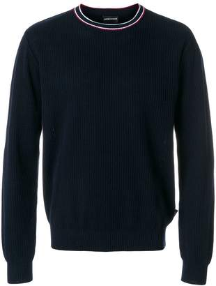 Emporio Armani ribbed crew neck sweater