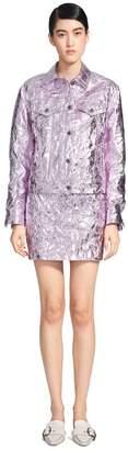 Sies Marjan Alby Laminated Crinkle Cropped Jacket