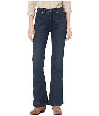 Rock and Roll Cowgirl High-Rise Trousers in Dark Wash W8H9223