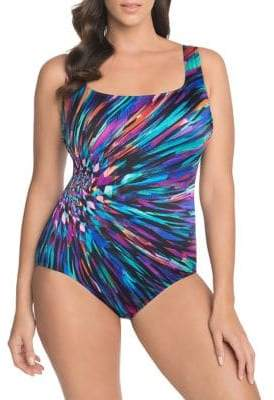 Longitude Printed Scoop Back One-Piece Swimsuit