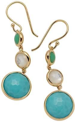 Ippolita Lollipop 18K Gold, Chrysoprase, Turquoise & Mother-Of Pearl Drop Earrings