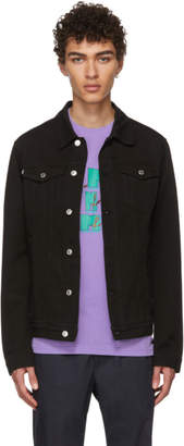 MSGM Black Denim Jacket
