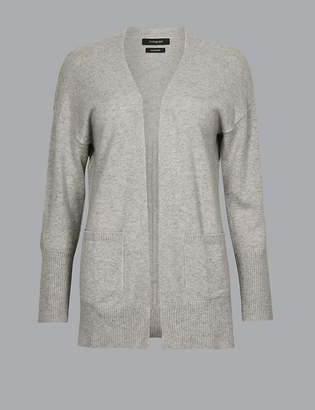 Marks and Spencer Pure Cashmere Ribbed Cardigan