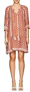 Natalie Martin Women's Stevie Zigzag-Print Silk Dress - Orange, Pnk