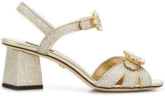 Dolce & Gabbana crystal buckle sandals