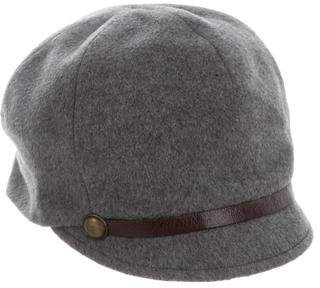Eugenia Kim Wool Leather-Trimmed Cap