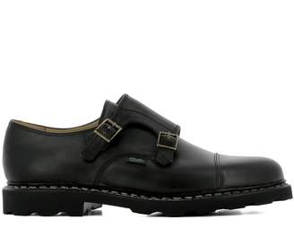 Paraboot Black Leather Loafers