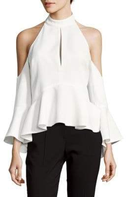 C/Meo Halterneck Cold-Shoulder Top