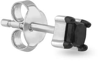 Black Diamond FINE JEWELRY Mens 1/8 CT. T.W. Color-Enhanced 14K White Gold Stud Earring