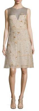 Elie Tahari Maritza Embellished Silk Dress $898 thestylecure.com