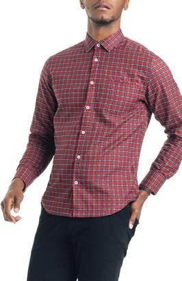 Good Man Brand Slim Fit Tartan Plaid Sport Shirt