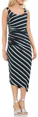 Vince Camuto Ruched Stripe Dress