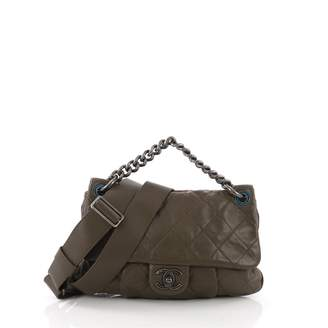Chanel Green Leather Handbag