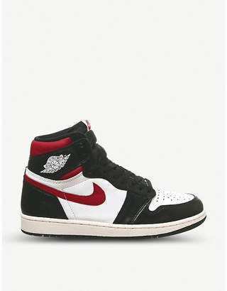 Jordan 1 Retro leather high-top trainers
