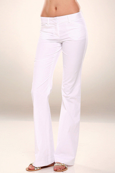 Theory Max C Radar Pant in White-FINAL SALE