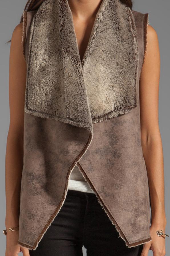 Velvet by Graham & Spencer Kitty Faux Sherpa Vest