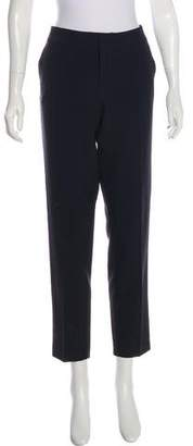Ecru Mid-Rise Straight-Leg Pants w/ Tags