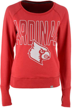 '47 Women's Louisville Cardinals React Raglan Long Sleeve T-Shirt