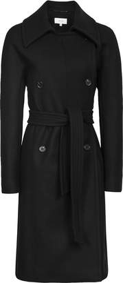 Reiss Eilish - Double Breasted Coat in Black