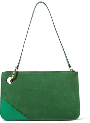 J.W.Anderson Leather-trimmed Suede Shoulder Bag - Emerald
