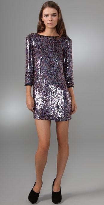 Tibi Eclipse Sequined Dress