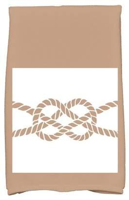 "Simply Daisy 16"" x 25"" Nautical Knot Geometric Print Hand Towel"