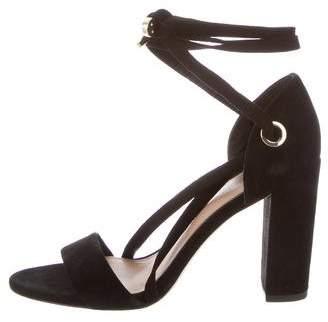 Diane von Furstenberg Lace-Up High Heel Sandals