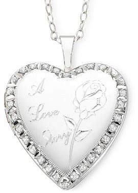 story. FINE JEWELRY Diamond Accent A Love Heart Locket Pendant Necklace