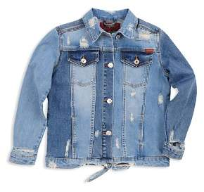 7 For All Mankind Girls' Distressed Denim Jacket - Little Kid