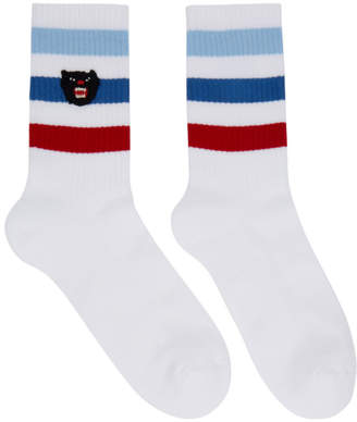 Gucci White Little Kitty Slam Socks