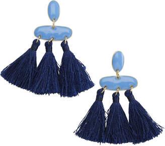 Vineyard Vines Blue Tassel Earrings