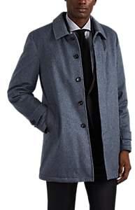Isaia Men's San Gennaro Cashmere Melton Coat - Lt. Blue