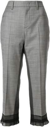 Prada sheer panel cropped trousers